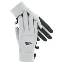 The North Face Etip Gloves - Touch-Screen Compatible in High Rise Grey - Closeouts