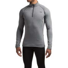 The North Face Expedition Base Layer Top - Zip Neck, Long Sleeve (For Men) in Graphite Grey Heather - Closeouts