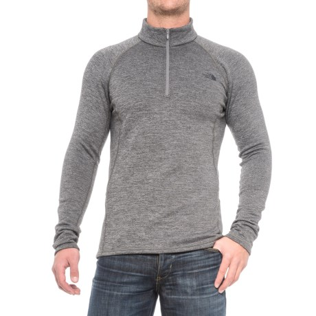 The North Face Expedition Base Layer Top - Zip Neck, Long Sleeve (For Men) in Zinc Grey Heather