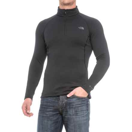 The North Face Expedition Shirt - Zip Neck, Long Sleeve (For Men) in Tnf Black - Closeouts
