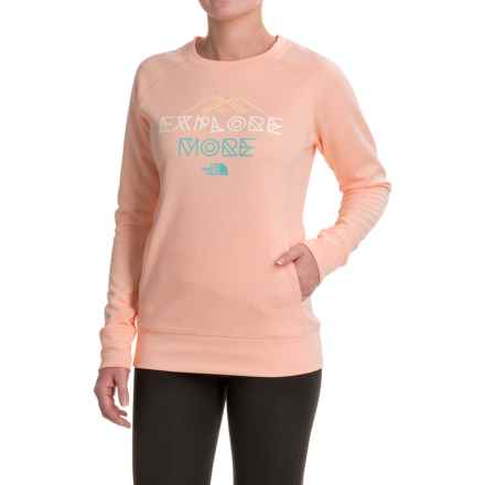 The North Face Explore More Sweatshirt - Crew Neck (For Women) in Tropical Peach Heather - Closeouts