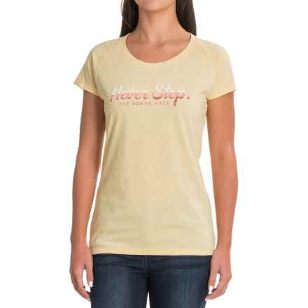 The North Face Explorer Gradient T-Shirt - Short Sleeve (For Women) in Golden Haze Heather - Closeouts