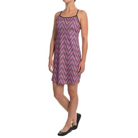 The North Face Exposure Dress - UPF 50, Sleeveless (For Women) in Honeysuckle Pink Ikat Print - Closeouts