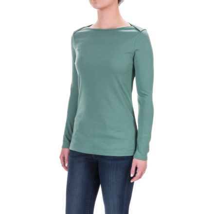The North Face EZ Ribbed Shirt - Long Sleeve (For Women) in Deep Sea Light Heather - Closeouts