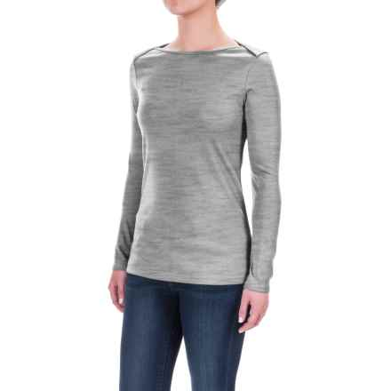 The North Face EZ Ribbed Shirt - Long Sleeve (For Women) in Tnf Light Grey Heather - Closeouts
