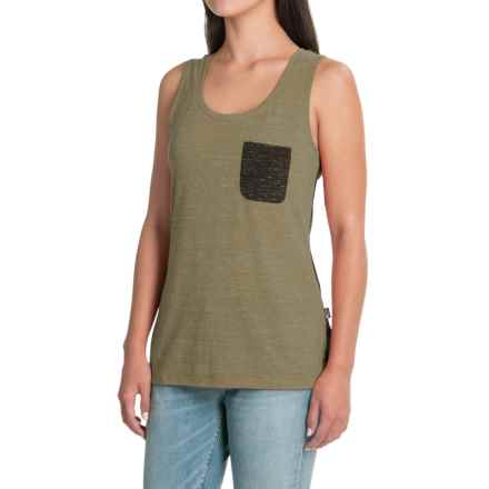 The North Face EZ Tank Top - Racerback (For Women) in Deep Lichen Green Melange - Closeouts