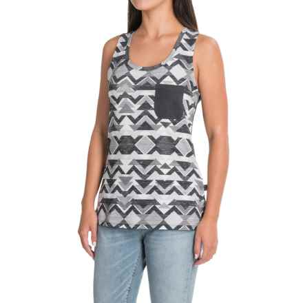 The North Face EZ Tank Top - Racerback (For Women) in High Rise Grey Triangle Tribal Print - Closeouts