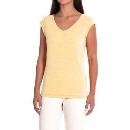 The North Face EZ Tee T-Shirt - Short Sleeve (For Women) in Golden Haze Malange - Closeouts