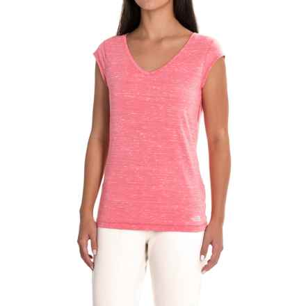 The North Face EZ Tee T-Shirt - Short Sleeve (For Women) in Honeysuckle Pink Melange - Closeouts