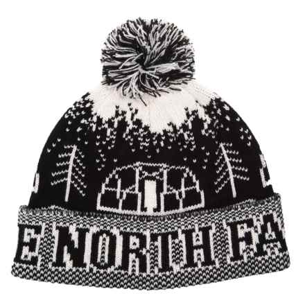 The North Face Fair Isle Pom Pom Beanie (For Men and Women) in Tnf Black - Closeouts