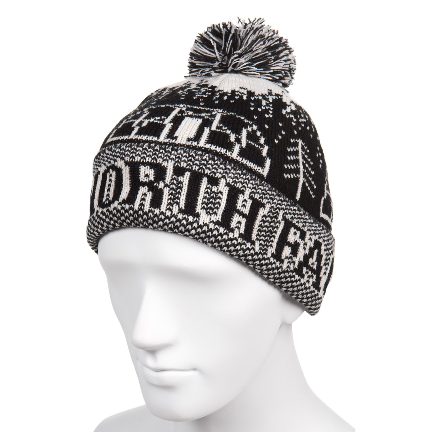 The North Face Fair Isle Pom Pom Beanie (For Men and Women)