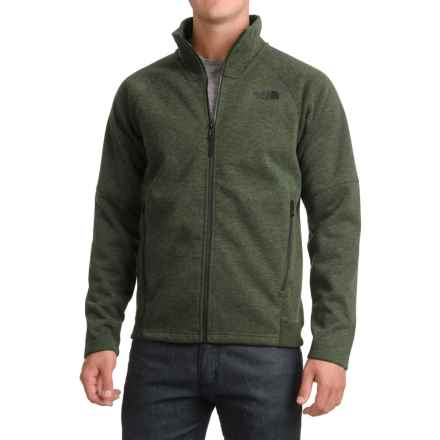 The North Face Far Northern Fleece Jacket - Full Zip (For Men) in Rosin Green Heather/Rosin Green Heather - Closeouts