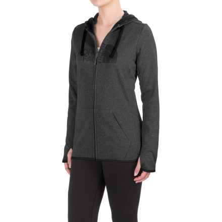 The North Face Fave Half Dome Hoodie - Zip Front (For Women) in Tnf Dark Grey Heather (Std)/Tnf Black - Closeouts
