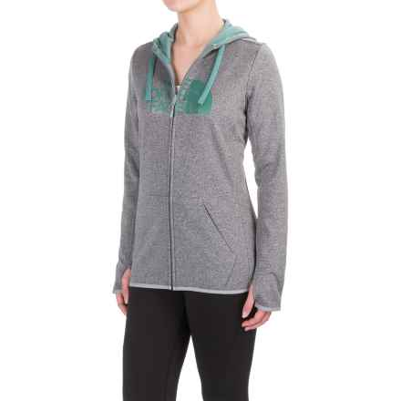The North Face Fave Half Dome Hoodie - Zip Front (For Women) in Tnf Dark Medium Heather (Std)/Deep Sea - Closeouts