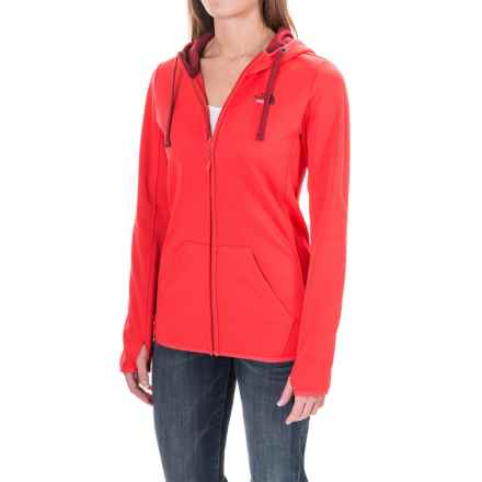 The North Face Fave LFC Hoodie - Zip Front (For Women) in Melon Red/Biking Red Multi - Closeouts