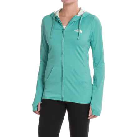 The North Face Fave Lite LFC Full-Zip Hoodie (For Women) in Agate Green/Ambrosia Green - Closeouts