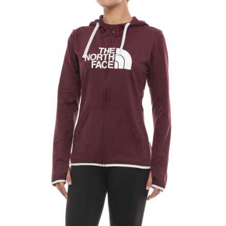 The North Face Fave Lite LFC Hoodie - Full Zip (For Women) in Deep Garnet Red Heather/Tnf White - Closeouts