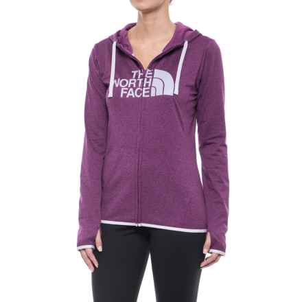The North Face Fave Lite LFC Hoodie - Full Zip (For Women) in Wood Violet Heather/ Lavender Blue - Closeouts