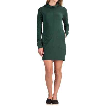 The North Face FlashDry® Hooded Dress - Long Sleeve (For Women) in Scarab Green Dark Heather - Closeouts