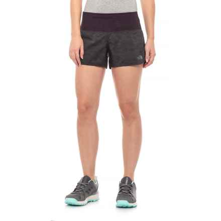 The North Face Flight Better Than Naked Shorts (For Women) in Galaxy Purple Digicamo Print - Closeouts
