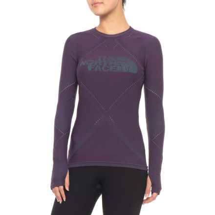 The North Face Flight Pack Shirt - Long Sleeve (For Women) in Dark Eggplant Purple - Closeouts