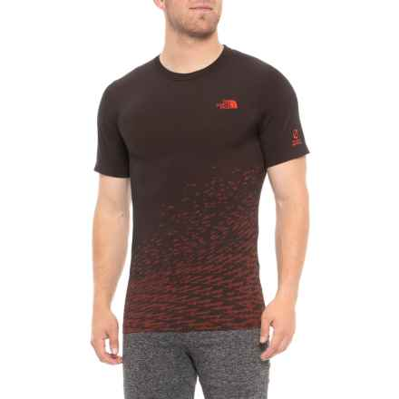 The North Face Flight Seamless T-Shirt - Short Sleeve (For Men) in Poinciana Orange - Closeouts