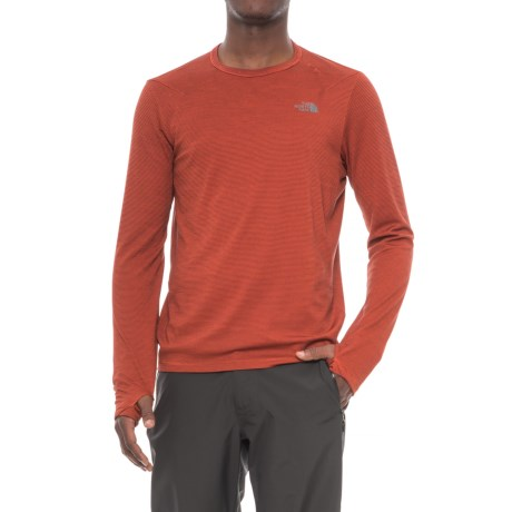 The North Face Flight Touji Shirt - Long Sleeve (For Men) in Ketchup Red