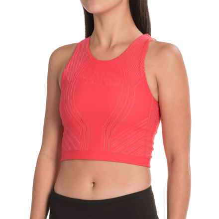 The North Face Flight Warp Tank Top - Built-In Shelf Bra (For Women) in Cayenne Red - Closeouts