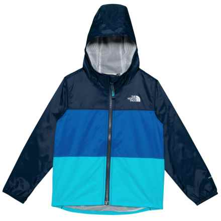 The North Face Flurry Wind Jacket - UPF 30 (For Toddlers) in Cosmic Blue - Closeouts