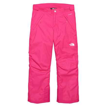 The North Face Freedom Ski Pants - Waterproof, Insulated (For Big Girls) in Petticoat Pink - Closeouts