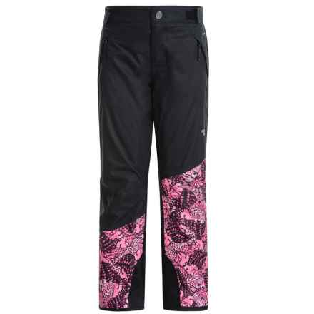 The North Face Freedom Ski Pants - Waterproof, Insulated (For Little and Big Girls) in Cha Cha Pink Butterfly Camo - Closeouts