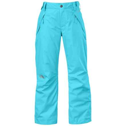 The North Face Freedom Ski Pants - Waterproof, Insulated (For Little and Big Girls) in Fortuna Blue - Closeouts