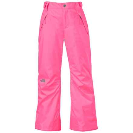 The North Face Freedom Ski Pants - Waterproof, Insulated (For Little and Big Girls) in Gem Pink - Closeouts