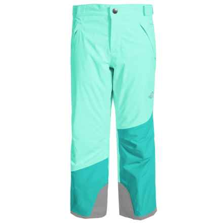 The North Face Freedom Ski Pants - Waterproof, Insulated (For Little and Big Girls) in Ice Green - Closeouts