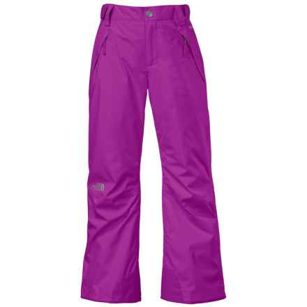 The North Face Freedom Ski Pants - Waterproof, Insulated (For Little and Big Girls) in Magic Magenta - Closeouts