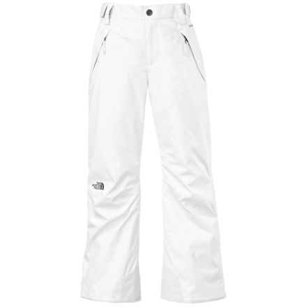 The North Face Freedom Ski Pants - Waterproof, Insulated (For Little and Big Girls) in Tnf White - Closeouts