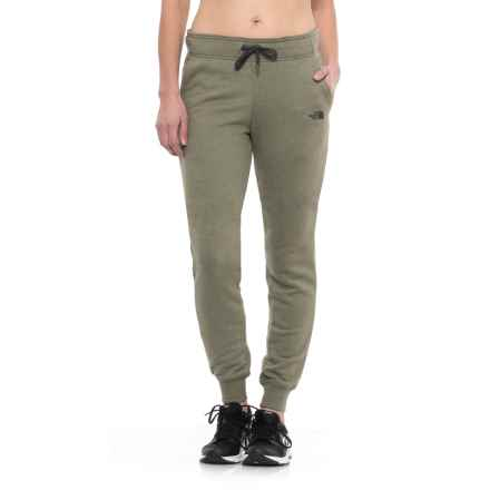The North Face French Terry Pants (For Women) in Burnt Olive Green Heather/Asphalt Grey - Closeouts