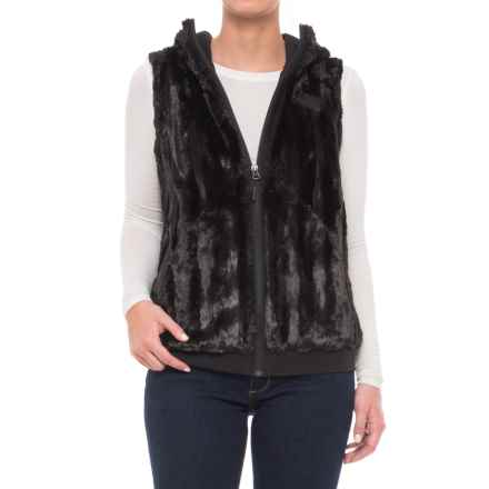 The North Face Furlander Vest - Hooded (For Women) in Tnf Black - Closeouts