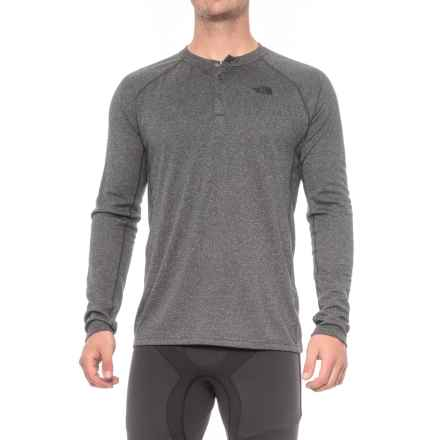 The North Face Fuse Progressor Shirt - Polartec® Power Wool®, Long Sleeve (For Men) in Tnf Dark Grey Heather - Closeouts