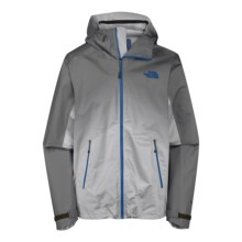 The North Face Fuseform Dot Matrix Rain Jacket - Waterproof (For Men) in Ashpalt Grey/Monster Blue Dot Matrix - Closeouts