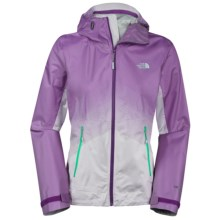The North Face Fuseform Dot Matrix Rain Jacket - Waterproof (For Women) in Iris Purple Dot Matrix - Closeouts