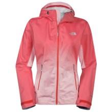 The North Face Fuseform Dot Matrix Rain Jacket - Waterproof (For Women) in Tomato Red Dot Matrix - Closeouts