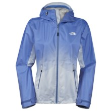 The North Face Fuseform Dot Matrix Rain Jacket - Waterproof (For Women) in Vintage Blue Dot Matrix - Closeouts