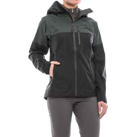 The North Face FuseForm® Progressor Shell Gore-Tex® Rain Jacket - Waterproof (For Women) in Tnf Black Fuse - Closeouts