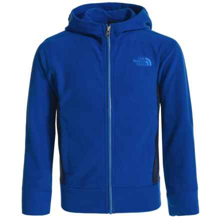 The North Face Glacier Fleece Hoodie - Full Zip (For Little and Big Boys) in Honor Blue - Closeouts