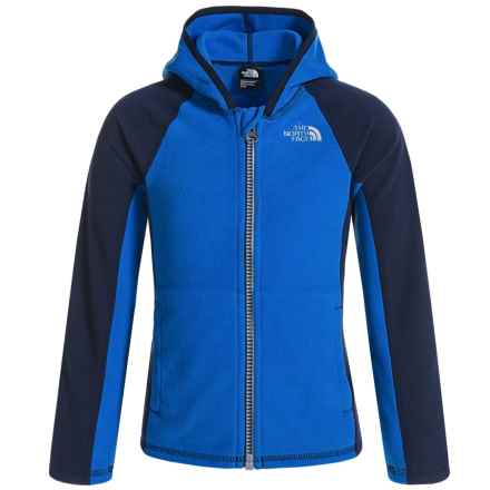 The North Face Glacier Fleece Jacket - Attached Hood (For Toddler Girls) in Jake Blue - Closeouts