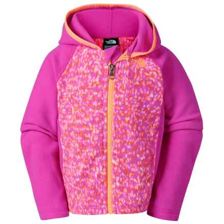 The North Face Glacier Fleece Jacket - Attached Hood (For Toddler Girls) in Luminous Pink - Closeouts