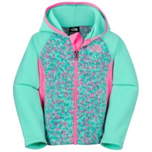 The North Face Glacier Fleece Jacket - Attached Hood (For Toddler Girls) in Surf Green - Closeouts