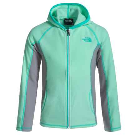 The North Face Glacier Fleece Jacket (For Little and Big Girls) in Ice Green - Closeouts