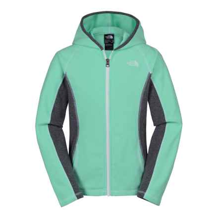 The North Face Glacier Fleece Jacket (For Little and Big Girls) in Surf Green - Closeouts